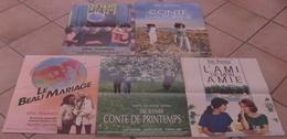 LOT 5 AFFICHES ORIGINALES FILMS ERIC ROHMER CONTE AUTOMNE PRINTEMPS BEAU MARIAGE NUITS LUNE AMI - Posters