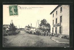 CPA St. Romain-Lachalm, Le Restaurant Merly, La Route De La Gare - Non Classificati