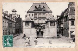X80129 ABBEVILLE 80-Somme Place Du MARCHE Aux HERBES 1910 à CARABEUF Bureau Enregistrement Chateaubourg - LEVY 94 - Abbeville