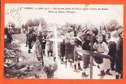 X80117 CORBIE (80) 14-07-1915 Avions Jettent Fleurs Tombes Soldats Morts CHAMP HONNEUR à GAUGERENQUES St Juéry -LE DELEY - Corbie