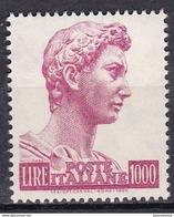 1974 - ITALIA REPUBBLICA   - SAN GIORGIO  -  LIRE  1.000   - SINGOLO   - NUOVO. - 1971-80: Nieuw/plakker