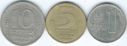 Israel - 1982 - 1 Shekel - KM111; 5 Sheqalim -  KM118 & 10 Sheqalim - KM119 - Israele
