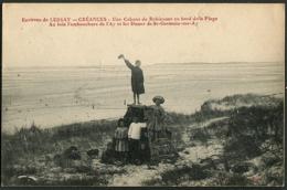 CP 50 Environs De Lessay - Créances - Une Cabane De Robinsons Au Bord De La Plage - Autres Communes