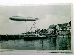 Friedrichshafen / Bodensee. Hafdenpartie Mit LZ 127  Graf Zeppelin . Alte, Seltene AK S/w. Luftschiff über Dem - Allemagne