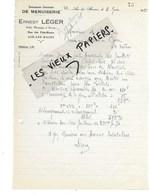 73 - Savoie - AIX-LES-BAINS - Facture LEGER - Menuiserie - 1928 - REF 140C - 1900 – 1949