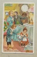 """U.P.U. Cartolina Postale Augurale """"Buon Capo D'Anno"""" 1908 - Anno Nuovo"""