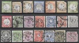 Allemagne Classiques Lot De 21 Timbres 1872-1900 O - Germania