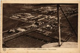 CPA AK MAROC CASABLANCA - Camp Cazes - Vue Aerienne (280667) - Casablanca