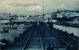 CPA AK MAROC TANGER - Vue Générale Prise Du Port - Vista General (280989) - Tanger