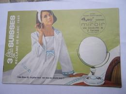 Catalogue Filatures Des 3 Suisses Roubaix Réclame De Blanc 1965 Vêtements Linge Lingerie - Textile & Vestimentaire