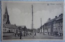CPA ELOUGES Région Dour Boussu Grand Place Très Animée - Charleroi