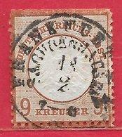 Allemagne N°24 9k Brun-rouge (FRANKFORT 18 2 76) 1872 O - Used Stamps