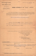 S M LE 1919.ROI D ANGLETERRE DECERNE LA MEDAILLE DES SERVICES MERITOIRES 19 E ESCADRONT E M MISSION MILITAIRE FRANC - Documents Historiques