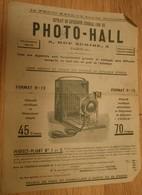 Prospectus Appareil Photo PHOTO HALL 5 Rue Scribe Paris Extrait Catalogue 1906 App. Détectives Touristes Perfect-Pliant - France