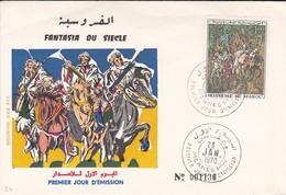 Maroc 1er Jour FDC YT 597 Fantasia Meknes 23/01/70 - Morocco (1956-...)