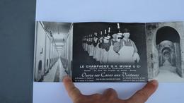 Carte Pliée En Trois Reims Le Champagne G.H.Mumm Ouvre Ses Portes Cordon Rouge - Reims