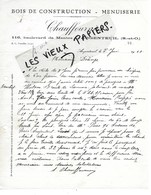 78 - Yvelines - ARGENTEUIL - Facture CHAUFFOURNIER - Bois De Construction, Menuiserie - 1928 - REF 140C - 1900 – 1949