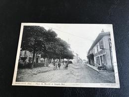 MARLIEUX (Ain) Place Du Marché Et Grande Rue - 1937 Timbrée - France