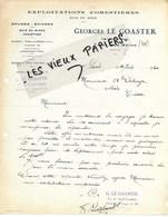 78 - Yvelines - TRIEL-SUR-SEINE - Facture LE GOASTER - Scierie, Exploitations Forestières, Bois - 1930 - REF 140C - France