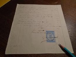 1880-  FACTURE  Avec Timbre FISCAL Non /Dentelé De (QUITTANCES ) T*Beau BORD DE FEUILLE + 4 Photos - Steuermarken
