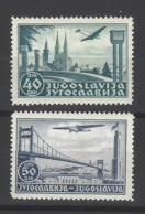 Jugoslavia - 1940 - Nuovo/new MNH - Airmail - Mi N. 426/27 - Posta Aerea