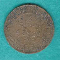 Italian Somaliland - 1909 R - Vittorio Emanuele III - 4 Bese - KM3 - Colonies