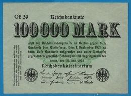 DEUTSCHES REICH 100.000 Mark   25.07.1923# OE11 P# 91a - [ 3] 1918-1933 : República De Weimar