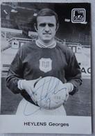 Autographe RSC ANDERLECHT Georges HEYLENS Signature Carte Publicitaire Delhaize Football - Autographes