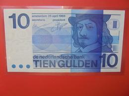 PAYS-BAS 10 GULDEN 1968 BELLE QUALITE CIRCULER (B.12) - [2] 1815-… : Kingdom Of The Netherlands