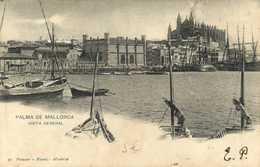 PALMA DE MALLORCA  VISTA GENERAL  RV Beau Timbre 10 Espana  Cachet Grand Hotel Palma De Mallorca 6 Juil 1905 - Palma De Mallorca