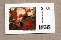 """BRD - """"Marke Individuell""""- Feuerwehr Fire - Pferdebespannte Motorspritze Mercedes 1927 - Firemen"""