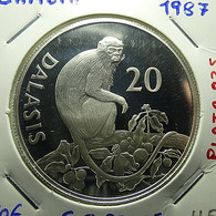 Gambia 20 Dalasis 1987 Silver Proof - Gambia
