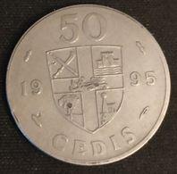 GHANA - 50 CEDIS 1995 - KM 31a - FREEDOM AND JUSTICE - Ghana