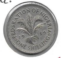 *nigeria 1 Shilling 1959 Km 5 Xf+ - Nigeria