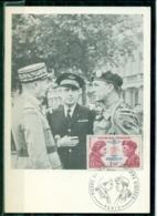 CM-Carte Maximum Card # France-1973 #Guerre,Krieg,war #(Yv.N° 1773) Paras SAS,commandos FFL,Philippe Kieffer,Paris - 1970-79