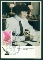 CM-Carte Maximum Card # France-1973 (Yv.N° 1747 ) Célébrités # COLETTE,Romanière,écrivain,novelist,author #St Sauveur - 1970-79