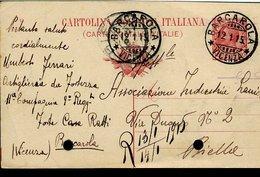 RC612 INTERO DA 10 CENT DA BARCAROLA ( VALDASTICO ) A BIELLA - 1900-44 Vittorio Emanuele III
