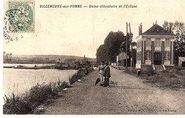 89 -VILLENEUVE SUR YONNE - USINE ELEVATOIRE ET L'ECLUSE - 1448 - Villeneuve-sur-Yonne