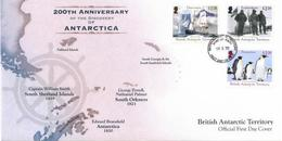 2020-01- BRITISH ANTARCTIC TERRITORY- FDC  200 TH DISCOVERY ANTARTICA   2V      MNH** (BAT 111) - Antarctic Expeditions