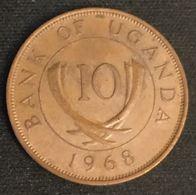 OUGANDA - UGANDA - 10 CENTS 1968 - KM 2 - Oeganda