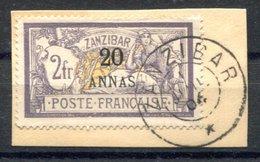 RC 17065 ZANZIBAR COTE 90€ N° 56 MERSON SURCHARGÉ SUR FRAGMENT OBLITÉRÉ TB VF USED - Zanzibar (1894-1904)