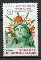 Iles Marshall - Poste Aérienne - 1986 - Yvert N° PA 7 **  - Année Internationale De La Paix - Marshall Islands