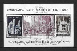 België/Belgique 1952 - BL30 - Afgestempeld - Basiliek Te Koekelberg/Basilique à Koekelberg - Oblitérés - Blocks & Sheetlets 1924-1960