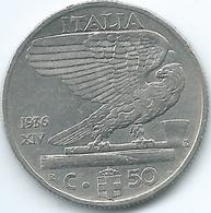 Italy - 1936 R - Vittorio Emanuele III - 50 Centesimi - KM76 - Scarce Magnetic Coin - 1861-1946 : Regno