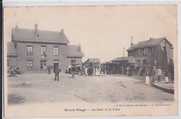 BERCK-PLAGE - La Gare Et La Poste Octroi Depré Correspondant Du Chemin De Fer - Berck