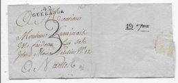 NANTES LOIRE ATLANTIQUE CACHET D'ARRIVEE Dispersion Collection - 1801-1848: Precursori XIX