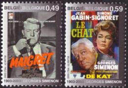 Belgium 3167/68**  Simenon  Signoret MNH - Belgique