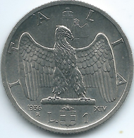 Italy - 1936 R - Vittorio Emanuele III - 1 Lira - KM77 - Scarce Magnetic Coin - 1861-1946 : Regno