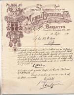 BARLETTA MICHELE BOCCASSINI LIQUORI BELLA TESTATINA PUBBLICITARIA - Vecchi Documenti