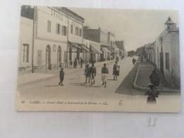CPA TUNISIE - GABES - 48 - Grand Hotel Et Boulevard De La Marine - LL - Tunisia